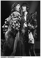~~ THE ROLLING STONES {EU} JAGGER & RICHARDS 1976 ~ 24X33 POSTER ~~