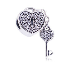 Genuine Pandora Silver Lock of Love Charm 791429CZ Authentic