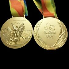 Brazil RIO 2016 OLYMPIC SOUVENIR COMMEMORATIVE Winners GOLD MEDAL with Ribbon