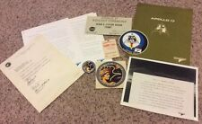 """APOLLO 17 """"LAST MISSION TO THE MOON GENE CERNAN COLLECTION FROM GRUMMAN EMPLOYEE"""