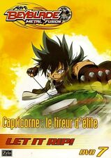BEYBLADE METAL FUSION 7 - CAPRICORNE LE TIREUR D'ELITE /*/ DVD NEUF/CELLO