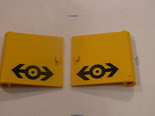 Lego 2 portes jaunes set 4564 / 2 yellow doors  w/ stickers
