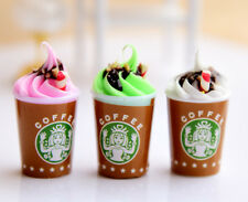 3 PCS of Starbucks Coffee Ice Cream Desserts Miniature Dollhouse 1/6 for Barbie