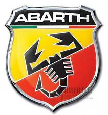 3D ABARTH Emblem Badge Logo Car Sticker Self-adhesive Chrome : Metal Made