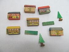 MES-46906 Ältereres Erzgebirge Holz Dorf H:Haus ca.23mm mit Gebrauchsspuren,