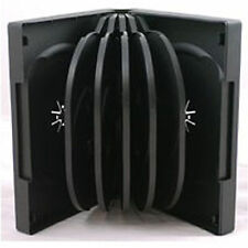 10 X 12 Way CD DVD Blu ray Case Black 39mm Spine HIGH QUALITY for 12 Discs