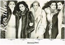 Publicité Advertising 1980 (2 pages) Les manteaux de Fourrures Revillon