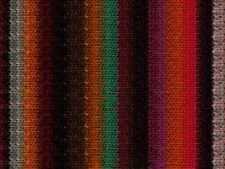 NORO ::Kureyon #325:: wool knitting yarn Black-Brown-Orange-Tomato-Teal