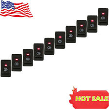 Hot 10x Red Led 12V 35A 4 Pins Car Headlamp Fog Light Switch Button ON-OFF US