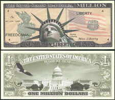 New-Style Liberty with Torch Peachy Million Dollar Novelty Collector Bill Note