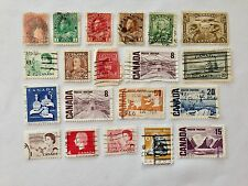 Vintage Canada Postage Stamps Lot of 20