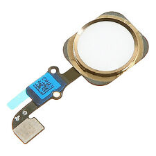 Gold White Home Button Flex Cable Assembly Part Fix for iPhone 6 Plus