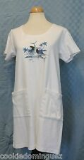 Guy Harvey Aftco Bluewater White Swim Suit Cover Up Dress Size Small Sailfish