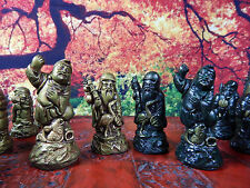 Japanese Gods of Luck Chess Set. Customisable colours (Pieces only/No board)