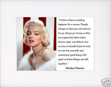 "Marilyn Monroe "" I believe that everything"" Quote Matted Photo Picture #pk1"