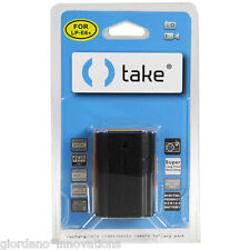 Take® Batteria al Litio 2500mah per Canon Eos LP-E6 LP-E6N 5D Mark II 2 III 3