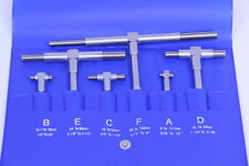 "Telescoping Gage 6 Pc Set  5/16"" - 6"" Range Super Precision T-Bore Hole Gauges"