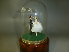 VINTAGE REUGE DANCING WEDDING COUPLE BALLERINA MUSIC BOX AUTOMATON (WATCH VIDEO)
