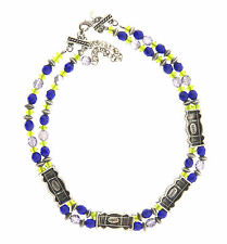 Chico's Crystal Glass Bead Double Strand Necklace