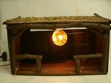 VTG Lighted Nativity Christmas Wooden Manger Stable Barn Creche ONLY 16x10.5