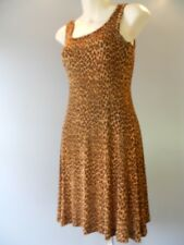 Vintage 90s Betsey Johnson Leopard Dress Fitted Shift Designer Retro Rockabilly