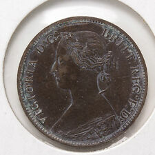 1867 Farthing - Great Britain - Km# 747.2 - Unc/Au