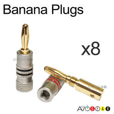 HiFi 8pcs 24K Gold Banana Plug Speaker wire 16 14 12 AW