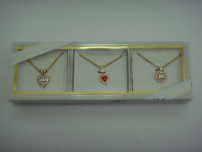 NINA RICCI PARIS Fashion Necklace Heart Pendant Charm Gift Box Set - MSRP $49.95