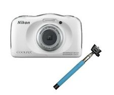 NIKON Coolpix S33 WATERPROOF Digital Camera 13MP + Selfie Stick WHITE *NEW*