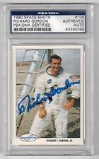 RICHARD GORDON Signed 1990 SpaceShots Card - PSA/DNA Certified Autograph NASA