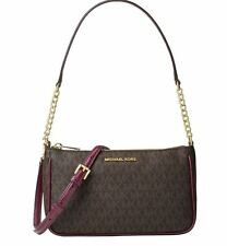 MICHAEL KORS LEATHER BAG/Shoulder bag BEDFORD MD CONVS POUCHETTE brown plum