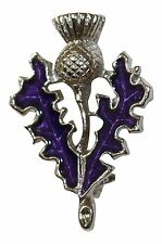 Art Pewter Scottish Thistle Purple Brooch Gift Scotland