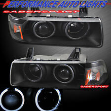 92-98 BMW E36 3-SERIES 4DR SEDAN & 318Ti DUAL HALO PROJECTOR HEADLIGHTS BLACK