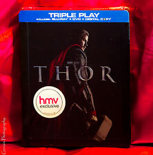 Thor Marvel Rare Collector's Edition Steelbook, Blu-Ray HMV Triple Play NEW