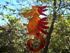 Arte hecho a mano de vidrio fusionado-Caballito de mar regalo único para cualquier ocasión Decoración ora