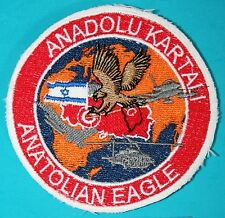 ISRAEL & TURKEY Air Force ANATOLIAN EAGLE Anadolu Kartali IDF Patch #0106