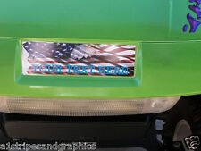 EZGO golf Cart YOUR TEXT Full Color AM FLAG  Eagle Logo Cover Decal Decals