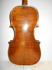 "Antique Old Vintage 1800s ""Hopf"" 2 Pc. Back Full Size Violin - NR"