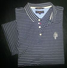 s2818 XL Navy Blue White Stripe TOMMY HILFIGER GOLF S/S Polo Shirt!