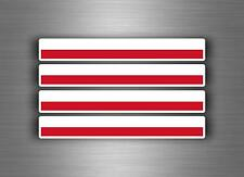 4x sticker decal car stripe motorcycle racing flag bike moto poland polska