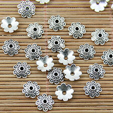 100pcs Tibetan silver plated beautiful flower bead caps EF1682