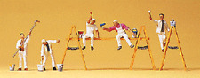 HO Preiser 10478 Painters / Paint Crew with Accessories (5) FIGURES