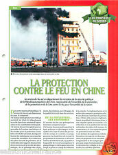 Firefighting apparatus Protection Fire China Chine Pompier FICHE FIREFIGHTER
