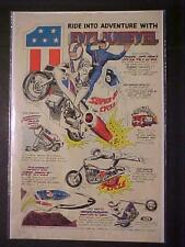 EVEL KNIEVEL TOY MOTORCYCLE JET STUNT CYCLE BIKE SETS ORIG PRINT AD VINTAGE 1975