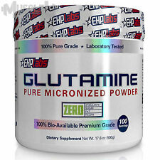 EHPlabs Glutamine - 100 Serves - Pure Micronised L-Glutamine BCAA Amino Acid