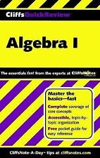 CliffsQuickReview Algebra I by Jerry Bobrow (2001, Paperback)