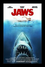 JAWS  framed movie poster 11x17 Quality Wood Frame