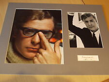 Signed & Mounted Sir Michael Caine Card & Photo display - C.O.A.