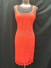 ANNE KLEIN DRESS/NEW WITH TAG/RETAIL$149/RED/LINED/LACE DRESS/SIZE 14/LENGTH 42""