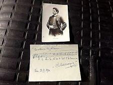 XXXRARE 1924 AUTOGRAPH & MUSIC EXCERPT PIETRO MASCAGNA CAVALLERIA RUSTICANA WCOA